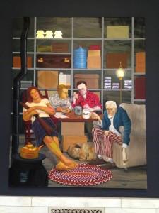 "Nicole Eisenman, Tea Party, 2011, oil on canvas, 82x65"", Hort Family Collection"