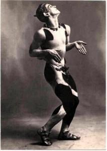 Nijinsky as the faun in 'L'Apres-midi d'un Faun'
