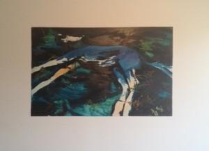 Rachel Jones Deris, Better Than Before, 2013. Oil on styrene 26.5x41.5 inches.
