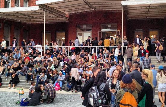 The crowd at the Art Book Fair taking a rest, photo courtesy the fair