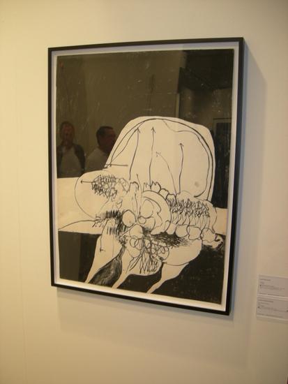 Hannah Wilke ink drawing, Andrea Rosen Gallery.