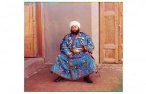 Sergei Mikhailovich Prokudin-Gorskii 'Emir of Bukhara in Bukhara, 1911.
