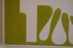 Splat #25 (green), detail view