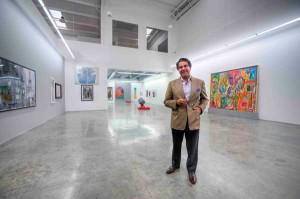 Ramin Salsali in his private museum in Dubai, photo The Artnewspaper