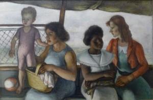 Simka Simkhovitch, Island Beach Ferry, 1940, oil on canvas
