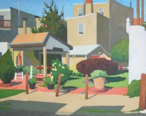 """Allison Syvertsen, """"Wonderland."""" Oil on panel, 16"""" x 20""""."""