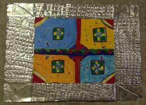 Tavon Lane,  Garden Medallion, 2013,  Bristol board, Prismacolors, Tooling foil, sharpees
