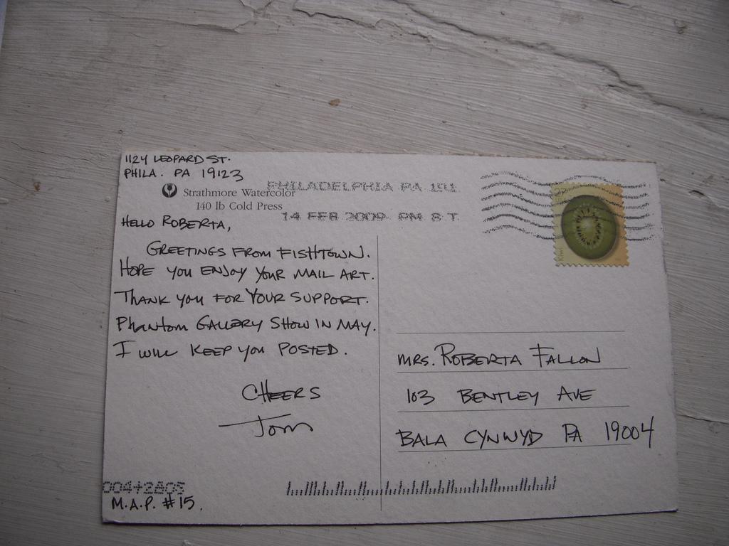 Thomas Hillman Postcard Back