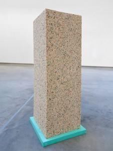 Barbara Knezevic 'Tenuous Monument' (2012) Reconstituted foam, silicone, 40 x 40 x 120 cm