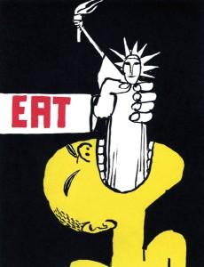 Eat, an anti-war poster (1962)