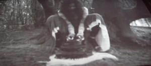 Wangechi Mutu Eat Cake, 2012, Video projected on cardboard, 12 min 51 sec.