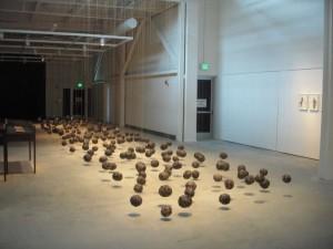 Wangechi Mutu, Suspended Playtime, 2008, ed. 2 of 3, garbage bags, twine, dimensions variable