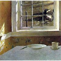 Groundhog Day 1959 Andrew Wyeth (American, born 1917) Tempera on Masonite 31 3/8 x 32 1/8 inches Philadelphia Museum of Art: Gift of Henry F. du Pont and Mrs. John Wintersteen, 1959 © Andrew Wyeth