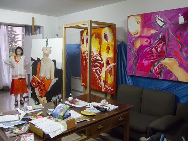Yan Yinhong in her Beijing studio.